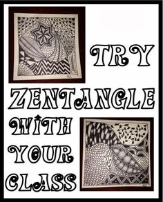 Try Zentangle with your Students - It's way easier than it looks and it is not only a great way to teach concepts like line and shading, but it is also good for de-stressing. For both you and your students! Would be good to use as a break from testing.