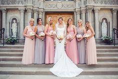 Purple and Pink Bridesmaid Dresses | Jenny Yoo Collection NYC | Kelly Jenkins @ Salon Lofts | The Beauty Baum | Nine Zero Three Photography https://www.theknot.com/marketplace/nine-zero-three-photography-north-ridgeville-oh-590267