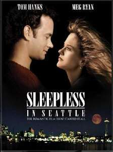 SLEEPLESS in Seattle.  Meg Ryan in Baltimore, Tom Hanks as a Seattle widower with a young son.