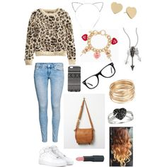 A fashion look from February 2015 featuring H&M sweaters, H&M jeans and NIKE sneakers. Browse and shop related looks.