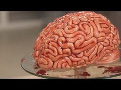 Торт МОЗГИ Красный Бархат! Или как сделать Торт на Хэллоуин. Урок!!! / Brain Cake For Halloween! - YouTube
