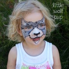 » First attempt at starblends Painting Smiles | face painting wolf | monkeys and magnolias faba