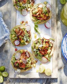 Spicy Shrimp Tostadas from www.whatsgabycooking.com (@whatsgabycookin)