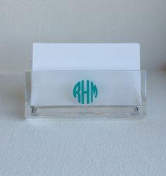 Monogram Business Card Holder by SurceeMonogramShop on Etsy