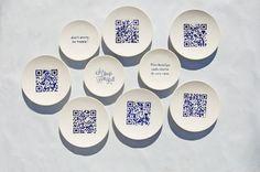 """""""Qr Ceramic"""" une collection d'assiettes e céramique intéressante  Je vous ai mis leur site"""