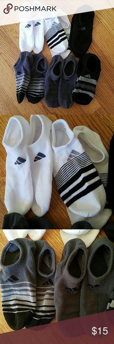 NWOT Six Pairs of Addidas Socks BRAND NEW NEVER WORN! Addidas athletic socks. Fits shoe size 6-10 Adidas Accessories Hosiery & Socks