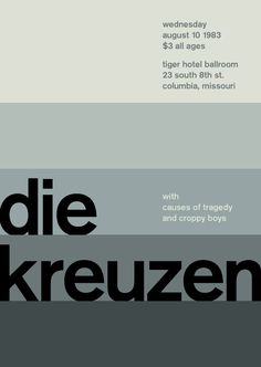 die kreuzen at tiger hotel ballroom, 1983 - swissted