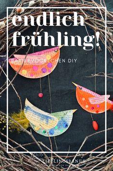 Einfaches DIY! Papiervögelchen aus Buchseiten. Alle Vögel sind schon da. Origami, Toddler Crafts, Diy Paper, Kids, Zero Waste, Paper Birds, Excited Dog, Art Projects For Toddlers, Book Pages