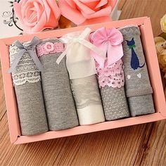 618 Women's Cotton 5PCS Briefs Cueca Medium Size Underwear Knickers Intimates bragas Sexy Calcinha Lingerie Panties LL4