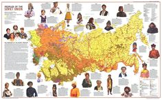 Art Print: 1976 Peoples of the Soviet Union Map by National Geographic Maps : National Geographic Maps, Old Maps, Map Art, Vintage World Maps, Nostalgia, Art Prints, Red Army, Armenia, Data Visualization