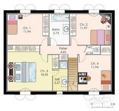 maison familiale 9   maisons familiales, familiale et habille - Plan Maison Etage 4 Chambres 1 Bureau