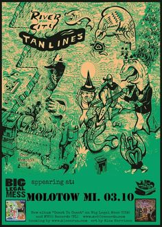 River City Tanlines gig poster