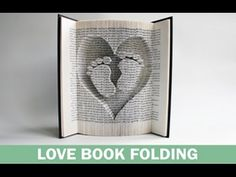 Book folding tutorial to accompany the book folding pattern for the heart and…