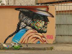 Street art in Ecuador by street artist Vez Rayas.