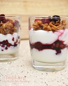 """I have found a new favorite dessert recipe. Simple, healthy and delicious. Healthy dessert you ask? It's true. Fruit and Yogurt Parfait Perfection. Low fat vanilla yogurt, a few tablespoons of fresh berries and homemade (or store bought) granola on top. Serious perfection. This """"recipe"""" is only three ingredients and only five simple steps too....Read More »"""