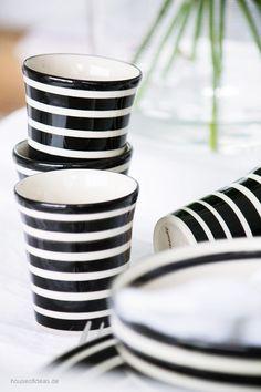 Bunzlauer Keramik Espressotasse ohne Henkel schwarz