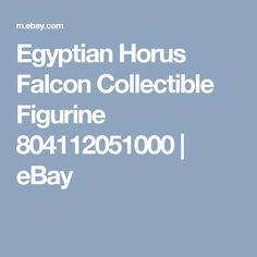 Egyptian Horus Falcon Collectible Figurine 804112051000 | eBay