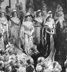 OPENING OF THE STATE DUMA IN THE SAINT GEORGE'S HALL OF THE WINTER PALACE, ST. PETERSBURG, APRIL 27TH, 1906. Empress Alexandra, Grand Duchess Olga Alexandrovna, Dowager Empress Marie, Grand Duchess Xenia