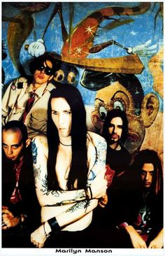 A great band portrait poster of the Captains of Creepy - Marilyn Manson! Ships fast. 11x17 inches. Check out the rest of our selection of Marilyn Manson posters! Need Poster Mounts..?