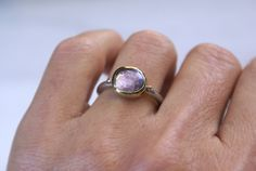 Amethyst Ring, Rose Cut Stack Ring, 925 Sterling Silver, 18k Gold, February Birthstone Gift, Purple Gemstone Women Jewelry, Fashion Ring Golden Ring, Gold And Silver Rings, Amethyst Stone, Stacking Rings, Fashion Rings, Band Rings, 18k Gold, February, Women Jewelry