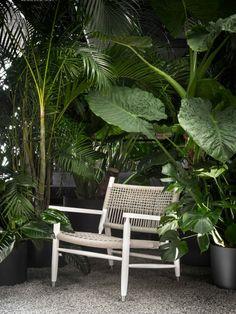 Tessa Outdoor - Armchairs | Ottomans Outdoor Armchair, Outdoor Chairs, Outdoor Furniture, Outdoor Decor, Elle Decor, Outdoor Settings, Natural Texture, Outdoor Spaces, Teak