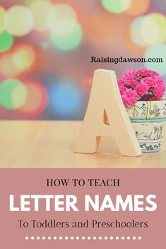Teaching toddlers and preschoolers the alphabet can be fun and should be incorporated into play. By starting them early they become immersed in letters and sounds that will catapult them ahead and set them up for a very successful education. Lesson Plans For Toddlers, Fun Activities For Toddlers, Preschool Learning Activities, Infant Activities, Kids Learning, Educational Activities, Toddler Fun, Toddler Preschool, Early Childhood Activities