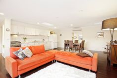 Color me ....orange....No...really...I'm waiting!!! LOL love this color....:-) Balwyn Studio Rebirth - modern - living room - melbourne - DE atelier Architects