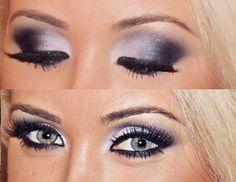 Silver/black smokey eye - possible wedding makeup