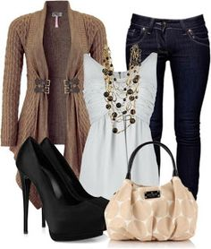 Fall Outfit ღ instylefashionone.com
