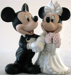 mickey minnie mouse wedding cake topper used this on my wedding cake