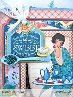 The Best Things In Life are Sweet Pop-Up, Cafe Parisian, by Kathy Clement, Product by Graphic 45, Photo 2