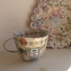 Paper and glue tea cups.