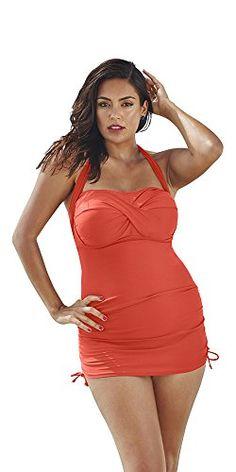 cb3c090107 Tropiculture Women s Convertible Sheath 8 Orange at Amazon Women s Clothing  store
