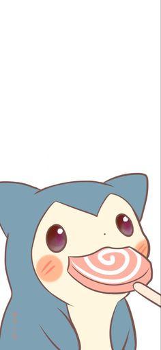 Cute Pokemon Wallpaper, Kawaii Wallpaper, Cute Wallpaper Backgrounds, Cartoon Wallpaper, Cool Wallpaper, Cute Wallpapers, Iphone Wallpaper, Pokemon Snorlax, Kawaii Illustration