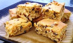 Weight Watchers cookie bars - Loved these..did not add the brown sugar - just used cake mix, vanilla, pumpkin, mini choc chips and egg whites. Used a sugar free chocolate pudding cup as a frosting for my single serving size...LOVE!!!
