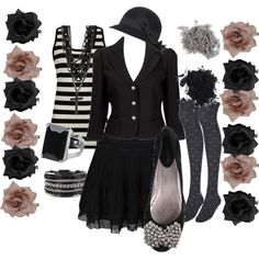 Aside from the bow on the shoes and the tanktop, I could sooo see myself wearing this to work!