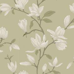 Vacker #magnolia från kollektionen Manor House 347047. Klicka för att se fler #inspirerande #tapeter för ditt hem!