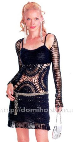 Crochet dress….and there is a pattern/diagram for this..