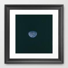 Earth Framed Art Print by Planet Prints - $31.00