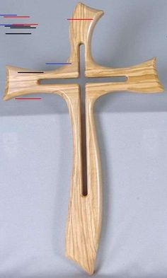 Contemporary Cross INNatural Finish With Inner Cross Cut-Out Italian Import measures 19 and 1 half inches Wooden Cross Crafts, Wooden Crosses, Wall Crosses, Wood Crafts, Diy Wood, Small Wood Projects, Woodworking Projects For Kids, Woodworking Workshop, Green Woodworking