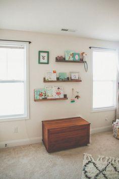 Wood Nursery Floating Wall Shelves