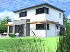 maison contemporaine avec toit tuiles immeuble. Black Bedroom Furniture Sets. Home Design Ideas