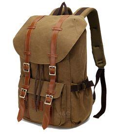 a96bd5400e3a Travel Canvas Sport Rucksack Shoulder Laptop School Camping Hiking Bag  Backpack