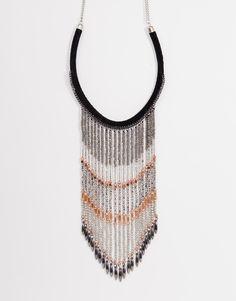 Imagen 1 de Collar con flecos de tendencia de ASOS