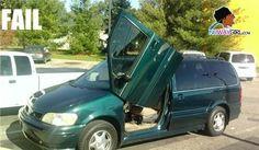 lambo doors on minivan...