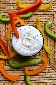 Skinny Greek Veggie Dip - a great way to eat more veggies!