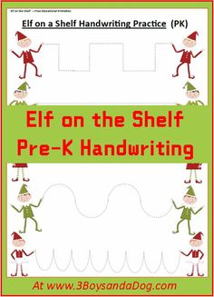 Check out the newest post (Elf on the Shelf Christmas Handwriting Worksheets for Kids) on 3 Boys and a Dog at http://3boysandadog.com/2013/12/elf-on-the-shelf-christmas-handwriting-worksheets-for-kids/?Elf+on+the+Shelf+Christmas+Handwriting+Worksheets+for+Kids