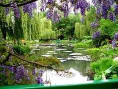 Monet's beautiful, serene garden in Giverny, France (Jardins de Giverny) ... What an inspiration for his art and garden lovers!