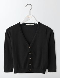 Boden Favourite Crop V-neck Cardigan Black Women The foundations of your wardrobe arent stable without a contemporary-classic V-neck knit. Meet your new favourite, in soft, top-of-the-crop cotton with a neat, nipped-in fit. Weve made sure theres a l http://www.MightGet.com/january-2017-13/boden-favourite-crop-v-neck-cardigan-black-women.asp