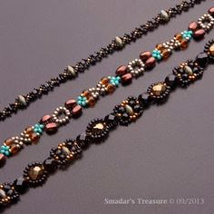 Link to an inspiring beader's blog...New Beading Tutorial - Adina, Aliza & Atara - Three Necklaces / Ropes